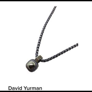 David Yurman Albion enhancer & 3mm necklace